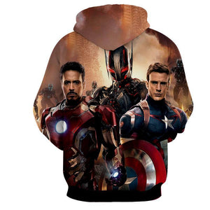 The Avengers Captain America Iron Man Altron Hoodies - Pullover Black Hoodie