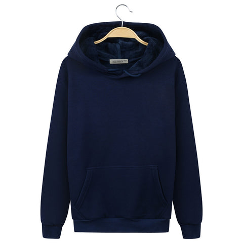 Image of Harajuku Style Hoodies - Solid Color Harajuku Style Series Fashion Fleece Hoodie