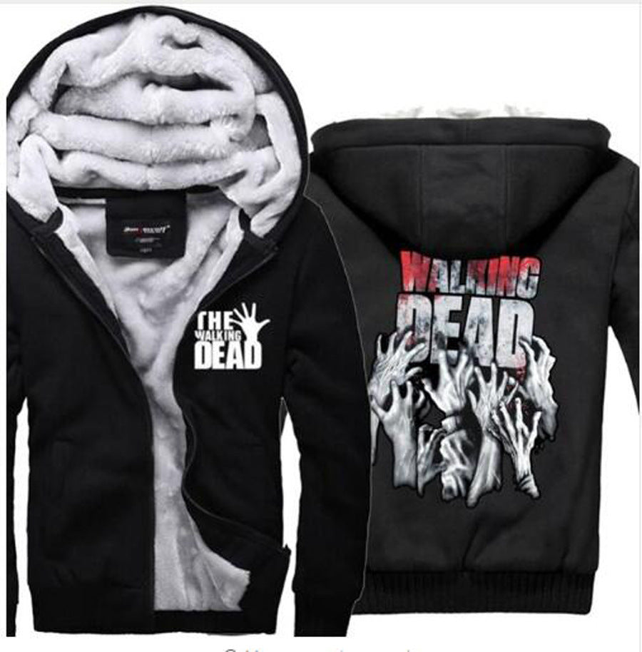 The Walking Dead Jackets - Solid Color The Walking Dead Movie Series Terror Icon Super Cool Fleece Jacket