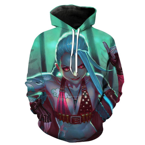 League of Legends Epic Jinx Hoodies - Pullover Victory V Hoodis