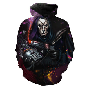League of Legends Jhin Hoodies - Pullover Jhin  Mask Of White Hoodie