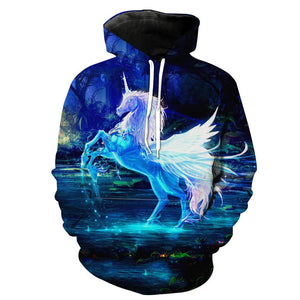 Unicorn Hoodies - Beautiful Unicorn  Fantasy Pullover Hoodie
