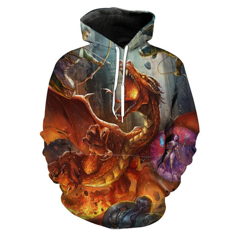 Dungeons and Dragons Adventure Hoodies - Pullover Nerd Hoodie