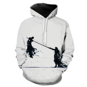 Final Fantasy 7 Hoodies - Pullover Sephiroth vs Cloud Hoodie
