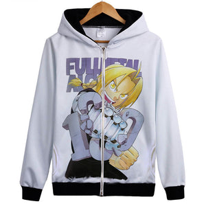 Fullmetal Alchemist Hoodies - Zip Up New Anime Cosplay Hoodie