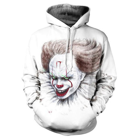Image of 3D Printed Sweatshirt Hoodies - Suicide Squad Joker 3D Hooded Pullover