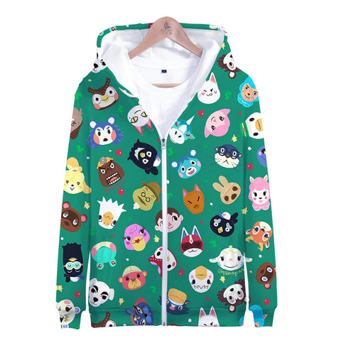 3D Animal Crossing Hooded Sweatshirt Zipper Hoodies