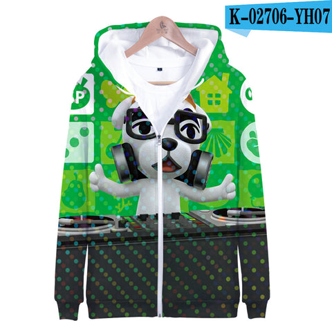 Image of 3D Animal Crossing Hooded Sweatshirt Zipper Hoodies