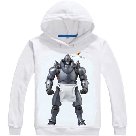 Image of Fullmetal Alchemist Hoodies - Zip Up Steel Men Multi-style Hoodie