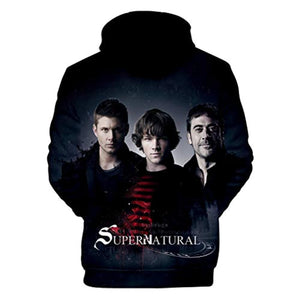 Supernatural Hoodies - Unisex 3D Print Hooded Pullover Sweatshirt