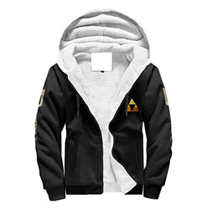 The Legend of Zelda Jacket - Solid Color Fleece Hooded Coat