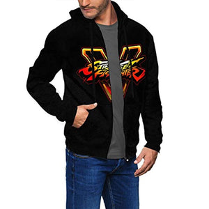 Street Fighter Hoodie - 3D Print Zip Up Hoodie with Pockets