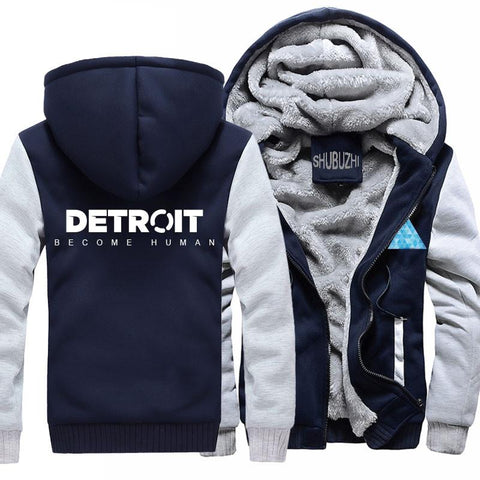 Image of Detroit: Become Human Hoodies - Fleece Zipper Hooded Sweatshirts