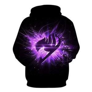 Fairy Tail 3D Printed Pocket Hoodies Pullovers