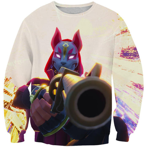 Image of Fortnite Hoodies - Masked Drift Gun Sweatshirt Hoodie