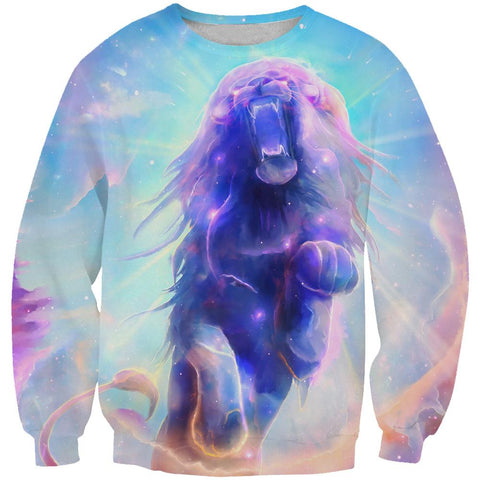 Galaxy Lion Hoodies - Lion Pullover Hoodie