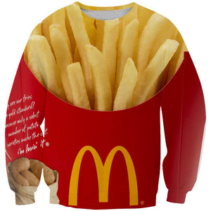 Funny McDonalds French  Hoodies -  Fries Yellow Pullover Hoodie