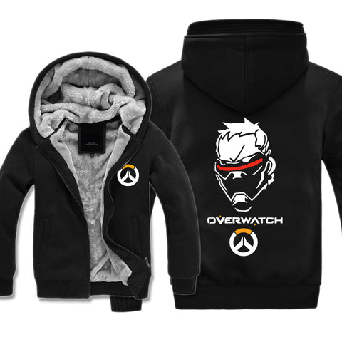 Image of Overwatch 76 Soldier Jackets - Zip Up Black Super Cool Jacket