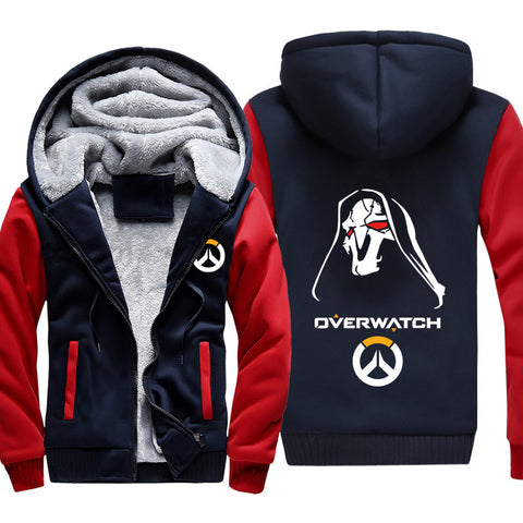 Image of Overwatch Reaper Jackets - Zip Up Black Super Cool Jacket