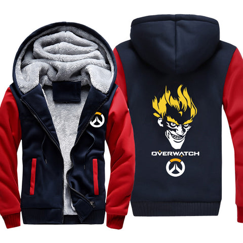 Overwatch Rat  Jackets - Zip Up Black Super Cool Jacket