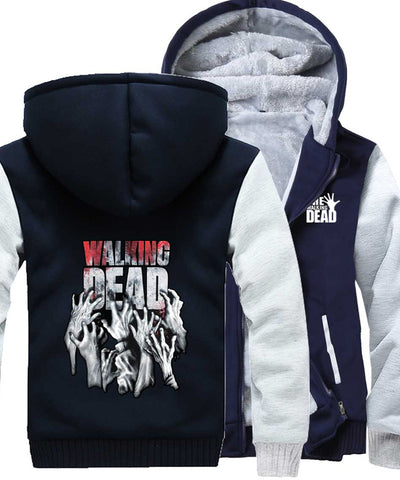 Image of The Walking Dead Jackets - Solid Color The Walking Dead Movie Series Terror Icon Super Cool Fleece Jacket