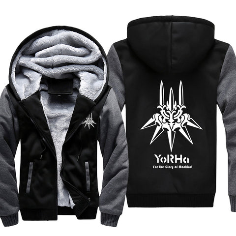 NieR: Automata Jackets - Solid Color NieR: Automata Yorha LOGO Icon Super Cool Jacket