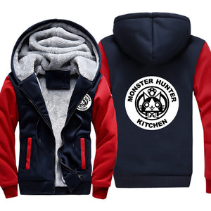 Monster Hunter Jackets - Solid Color Monster Hunter Airou Icon Super Cute Fleece Jacket