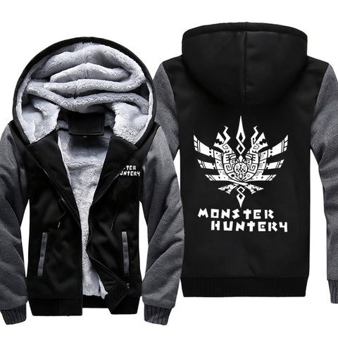Image of Monster Hunter Jackets - Solid Color Monster Hunter Game Ray Wolf Dragon Fleece Jacket