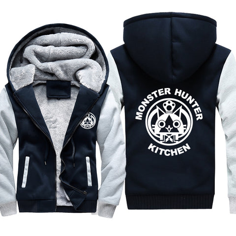 Image of Monster Hunter Jackets - Solid Color Monster Hunter KITCHEN Airou Icon Super Cool Fleece Jacket