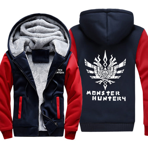 Monster Hunter Jackets - Solid Color Monster Hunter Game Ray Wolf Dragon Fleece Jacket