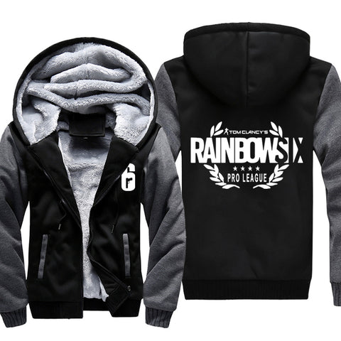 Rainbow Six Jackets - Solid Color Rainbow Six Game White Icon Super Cool Fleece Jacket