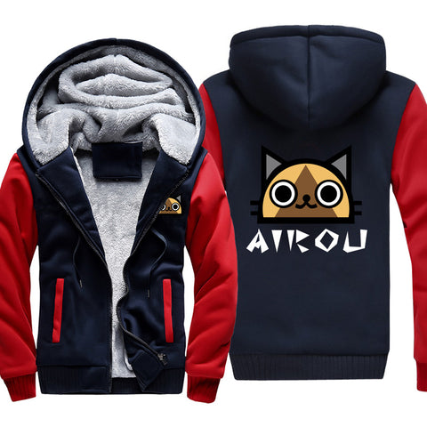 Monster Hunter Jackets - Solid Color Monster Hunter Game AIROU Icon Super Cool Fleece Jacket