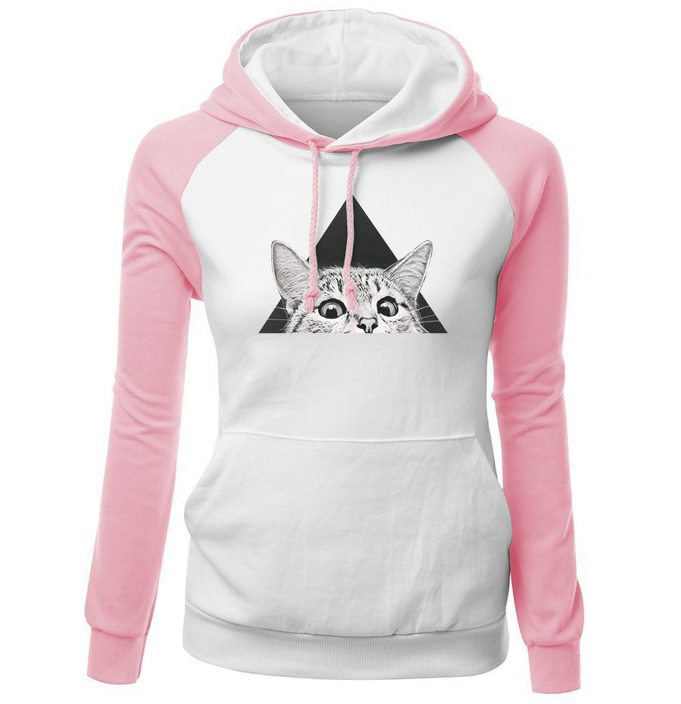 Women Hoodies - Women Hoodie Series Pet Cat Super Cute Fleece Hoodie