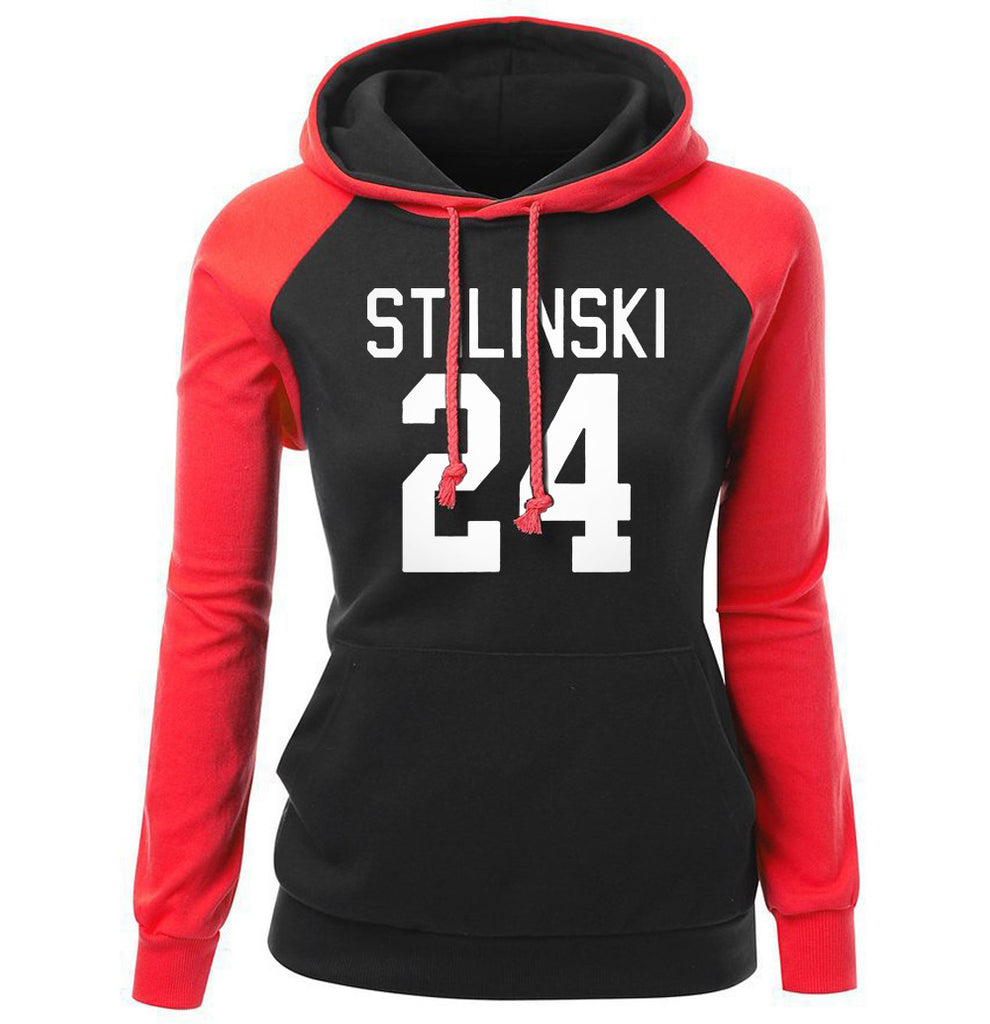 Basketball Hoodies - Women Basketball Hoodie Series 24 Numbering Fleece Hoodie