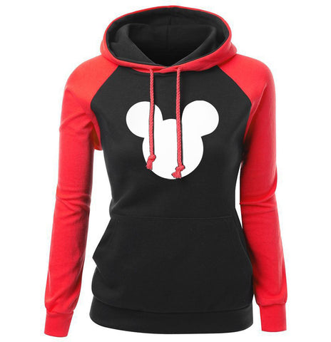 Image of Mickey Mouse Hoodies - Mickey Mouse Hoodie Series Mickey Mouse Women Super Cute Fleece Hoodie