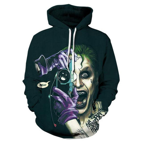 Suicide Squad Joker 3D Printed Hooded Pullover Sweatshirt Hoodies