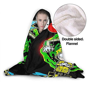 Anime Joker Rick & Morty Hooded Blanket - Flannel Blanket