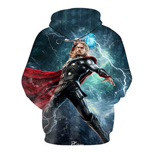 Thor Hoodies - 3D Print Long Sleeve Pullover Hooded Sweatshirt