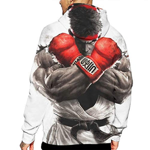 Street Fighter Hoodie - Ryu 3D Print Pullover with Pockets