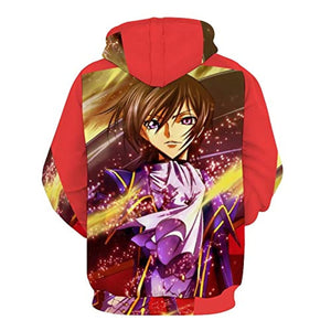 Code Geass Hoodies - Lelouch Lamperouge Unisex 3D Full Print Hooded Pullover Sweaters