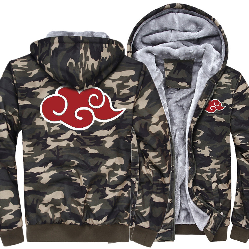 Dragon Ball Jackets - Solid Color Dragon Ball Anime Series Camouflage Fleece Jacket