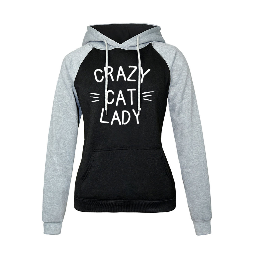 Women Hoodies - Women Hoodie Series Crazy Cat Lady Super Cute Fleece Hoodie