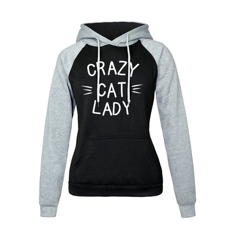 Image of Women Hoodies - Women Hoodie Series Crazy Cat Lady Super Cute Fleece Hoodie