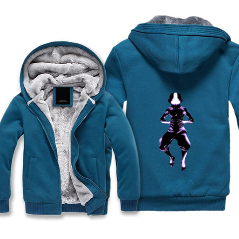 Image of Avatar the Last Airbender State Aang Jacket - Zip Up Fleece Jacket