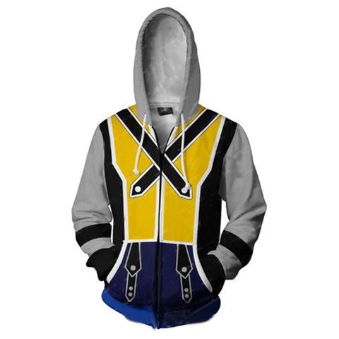 Kingdom Hearts Riku Hoodies - Zip Up Riku Yellow Hoodie