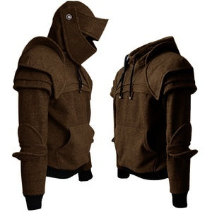 Men's Coats - Medieval Style Hoodie Duncan Armored Knight Garb Tops