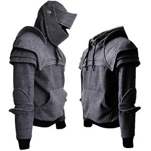 Image of Men's Coats - Medieval Style Hoodie Duncan Armored Knight Garb Tops