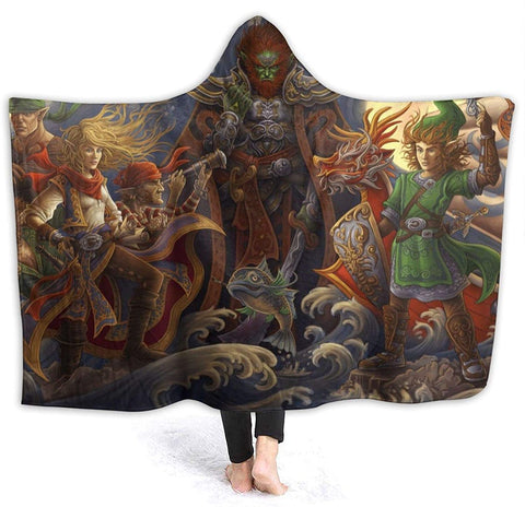 The Legend of Zelda Hooded Blankets - Anime Flannel Blankets