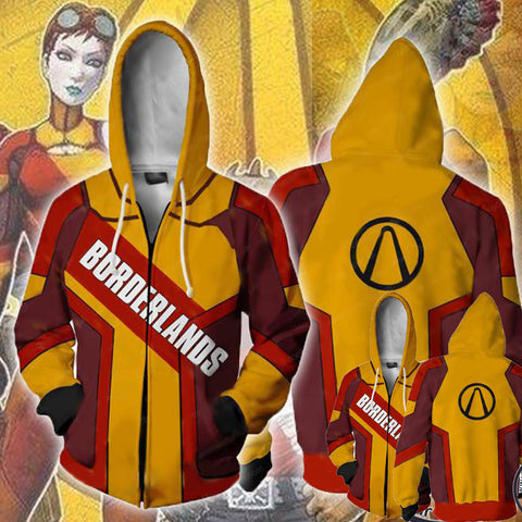 Borderlands Hoodies- Zip Up Black Logo Hoodie