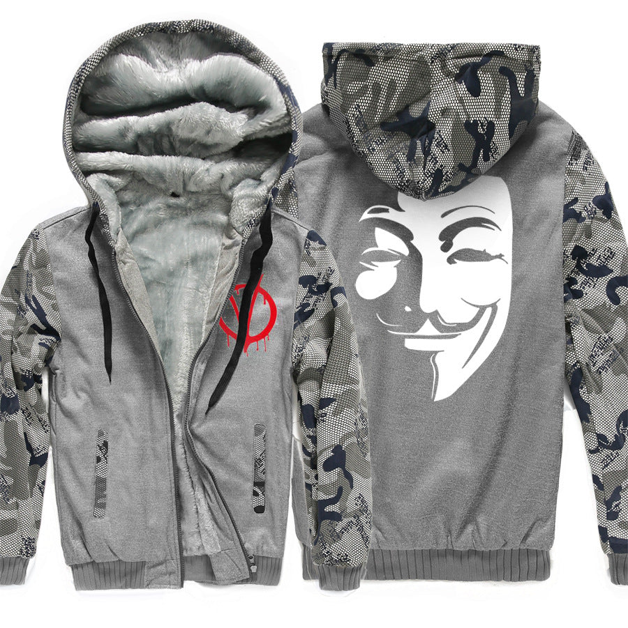 V-Vendetta Jackets - Solid Color V-Vendetta Movie Series Fleece Jacket